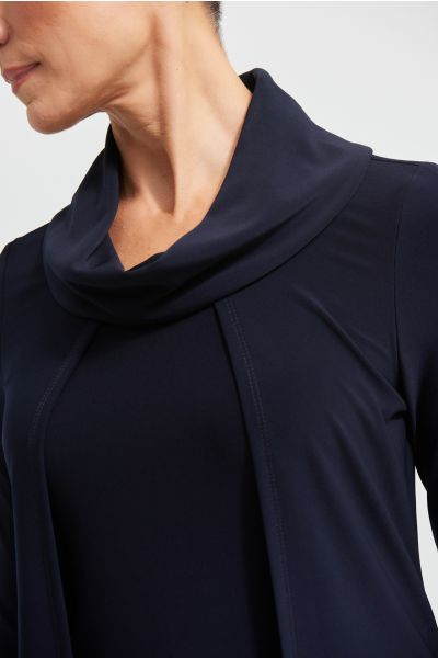 Joseph Ribkoff Midnight Blue Faux Layered Top Style 213047