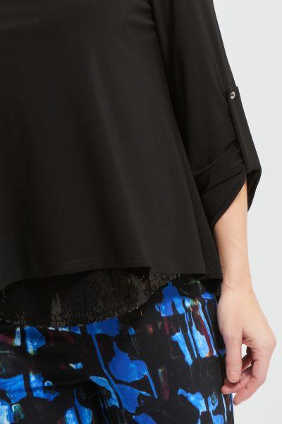 Joseph Ribkoff Haut Noir à Paillettes Style 213049