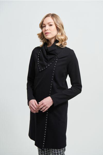 Joseph Ribkoff Black Studded Cocoon Jacket Style 213054