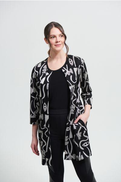 Joseph Ribkoff Black/Ecru Jacket Style 213094