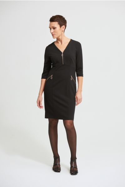 Joseph Ribkoff Black Dress Style 213100