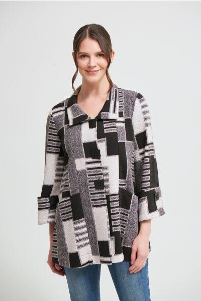 Joseph Ribkoff Black/Ecru Coat Style 213101