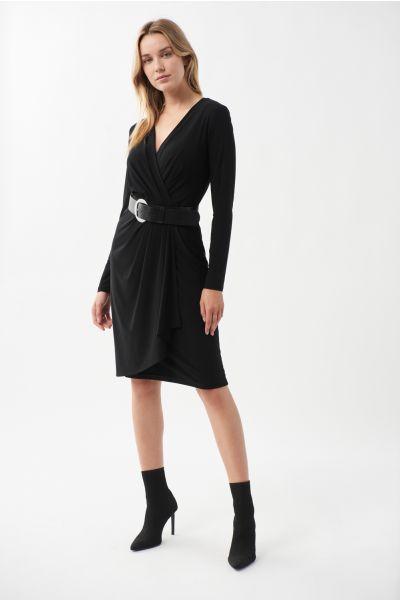 Joseph Ribkoff Black Wrap Dress Style 213103