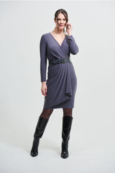Joseph Ribkoff Granite Wrap Dress Style 213103