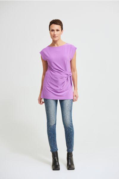 Joseph Ribkoff Hydrangea Draped sleeveless Top Style 213119