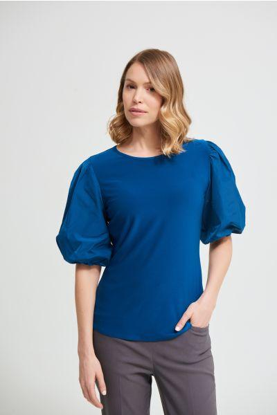 Joseph Ribkoff Aquarius Puff Sleeve Top Style 213121