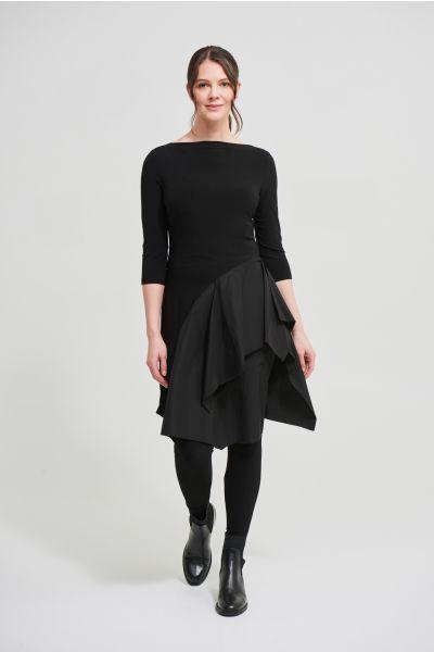 Joseph Ribkoff Black Tiered Asymmetric Dress Style 213251