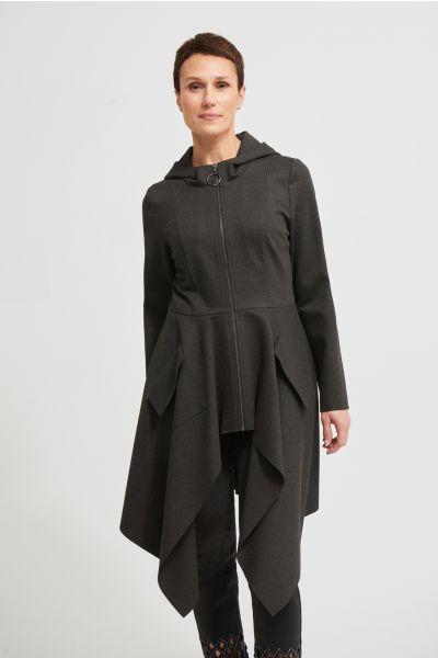 Joseph Ribkoff Charcoal Grey Coat Style 213295