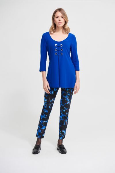 Joseph Ribkoff Royal Sapphire Lace Front Top Style 213339