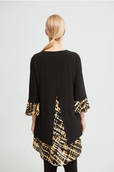 Joseph Ribkoff Black/Multi Tunic Style 213354
