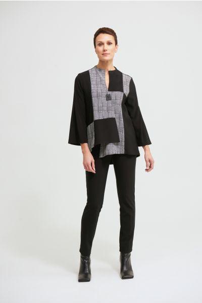 Joseph Ribkoff Black/White Swing Jacket Style 213370