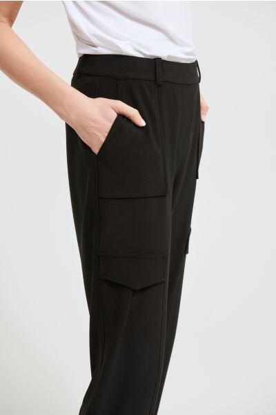 Joseph Ribkoff Black Straight Leg Pants Style 213375