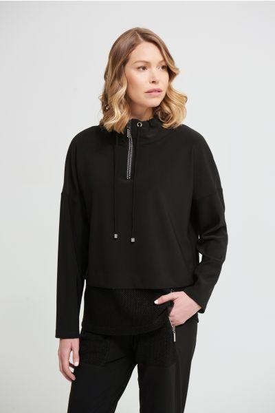Joseph Ribkoff Black Hoodie Style 213377