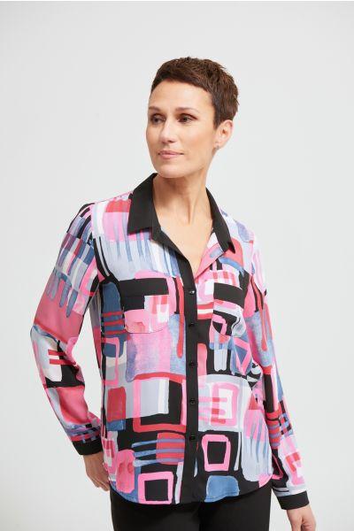 Joseph Ribkoff Pink/Multi Blouse Style 213398