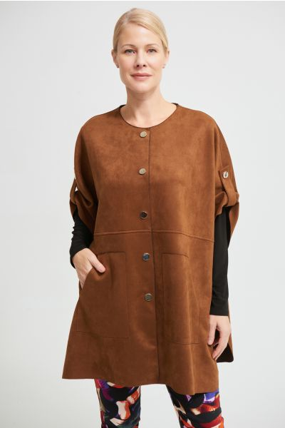 Joseph Ribkoff Brown Button Front Jacket  Style 213405