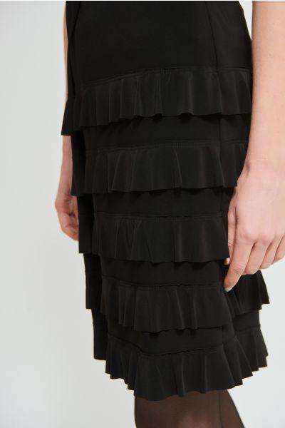 Joseph Ribkoff Black Tiered Ruffle Skirt Style 213561