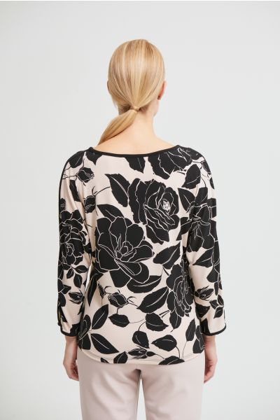 Joseph Ribkoff Black/Beige Top Style 213571
