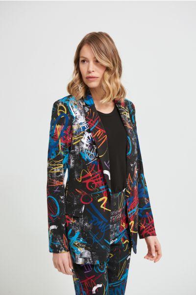 Joseph Ribkoff Black/Multi Blazer Style 213577