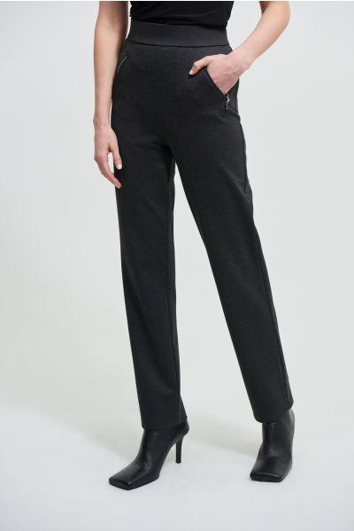 Joseph Ribkoff Charcoal Grey Flared Leg Pants Style 213589