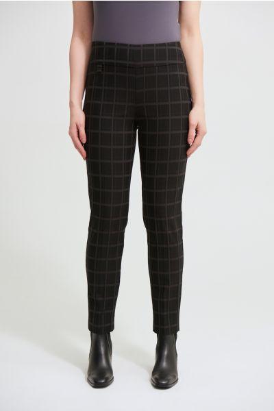 Joseph Ribkoff Black Check Print Pants Style 213617