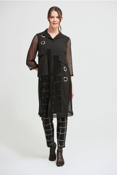 Joseph Ribkoff Black Mesh Georgette Tunic Style 213620