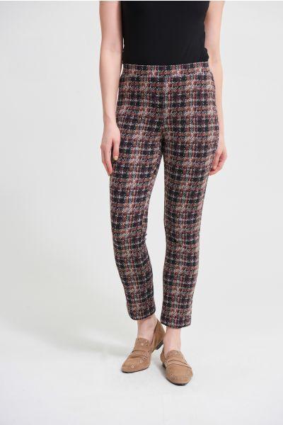 Joseph Ribkoff Jacquard Black/Multi Slim Leg Pant Style 213628
