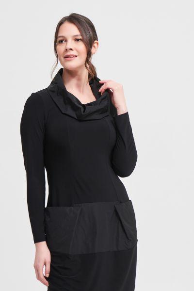 Joseph Ribkoff Black Tiered Detail Dress Style 213637