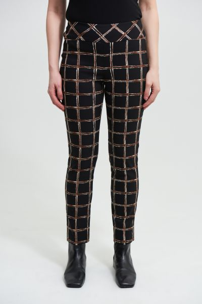 Joseph Ribkoff Black/Multi Pant Style 213643
