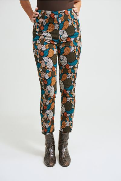 Joseph Ribkoff Black/Multi Abstract Print Pants Style 213644