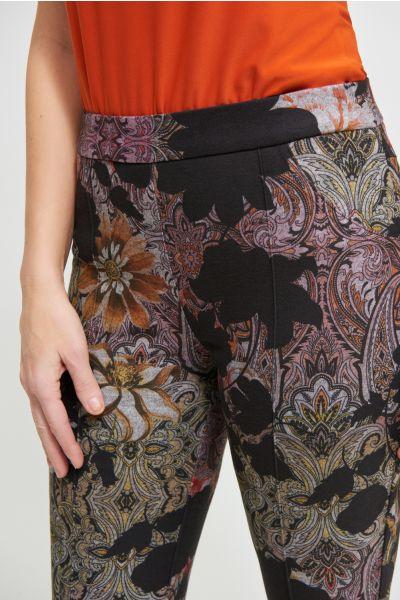 Joseph Ribkoff Black/Multi Pants Style 213645