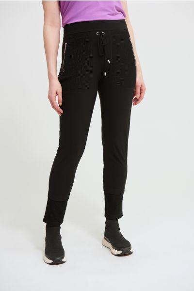 Joseph Ribkoff Black Slim Leg Pants Style 213653