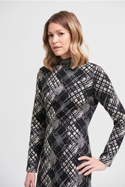Joseph Ribkoff Black/Beige Dress Style 213688