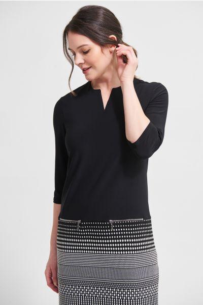 Joseph Ribkoff Silver/Black Jacquard Knit Dress Style 213694