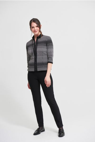 Joseph Ribkoff Black/Silver Jacquard Knit Blazer Style 213699
