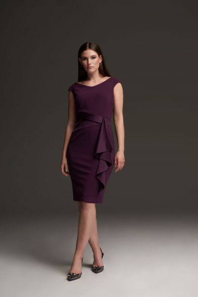 Joseph Ribkoff Draped Front Dress Style 213722 -main