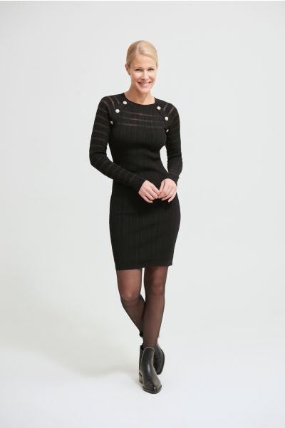 Joseph Ribkoff Black Long Sleeve Dress Style 213897