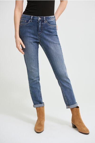 Joseph Ribkoff Denim Medium Blue Straight Leg Jeans Style 213942