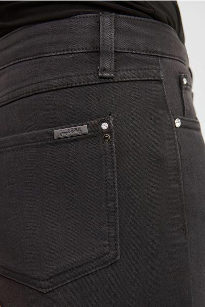 Joseph Ribkoff Charcoal/Dark Grey Cropped Jeans Style 213966
