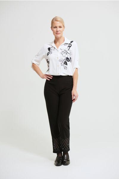 Joseph Ribkoff Vanilla Floral Blouse Style 213438