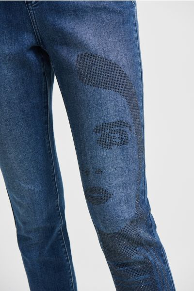 Joseph Ribkoff Denim Medium Blue Slim Fit Jeans Style 213973