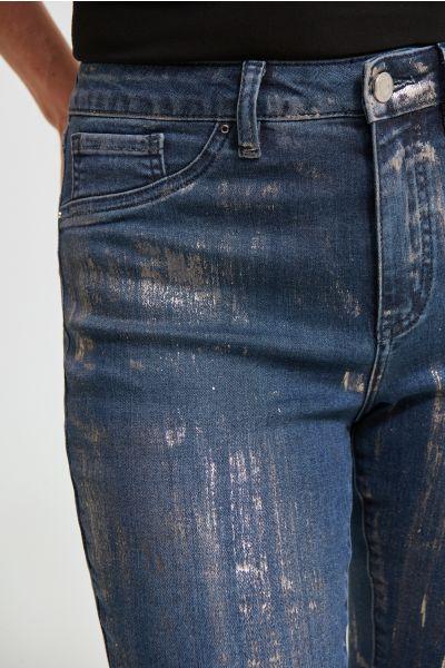Joseph Ribkoff Indigo Foiled Jean Style 213978