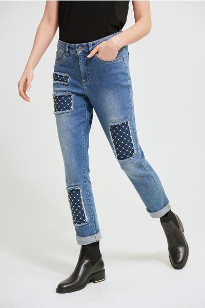 Joseph Ribkoff Blue Denim Pants Style 213979