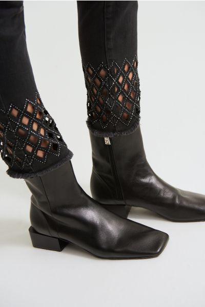 Joseph Ribkoff Black Denim/Jean Style 213998