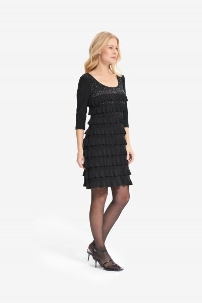 Joseph Ribkoff Black Dress Style 214071 - main