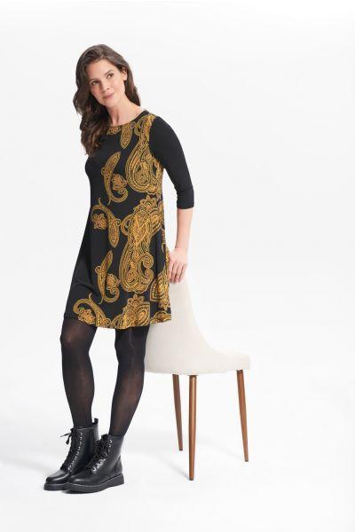 Joseph Ribkoff Black/Gold Dress Style 214148