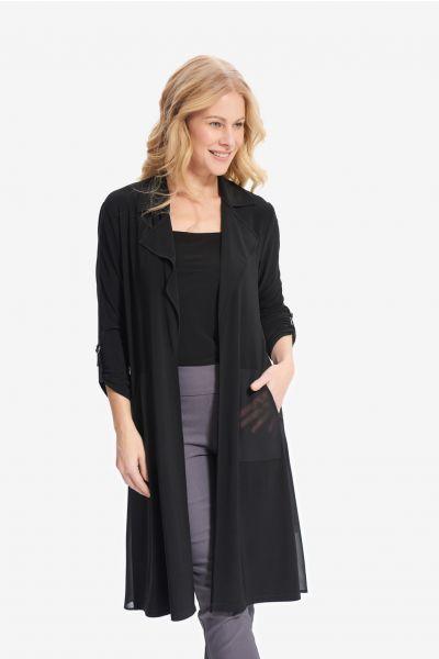 Joseph Ribkoff Black Long Cardigan Style 214159