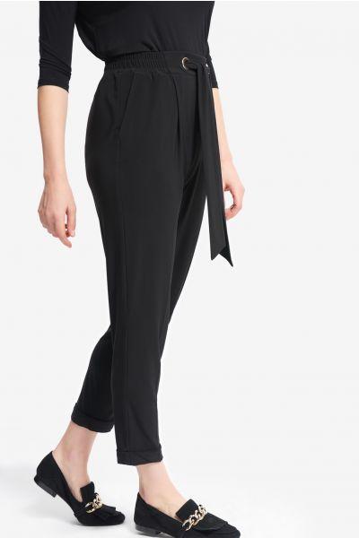 Joseph Ribkoff Black Belted Pants Style 214160