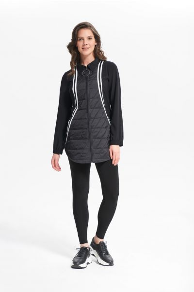 Joseph Ribkoff Nylon Black/White Puffer Jacket Style 214161