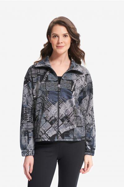 Joseph Ribkoff Black/Grey Jacket Style 214183