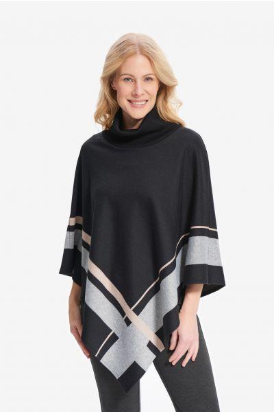 Joseph Ribkoff Black/Grey/Beige Cover-Up Style 214184